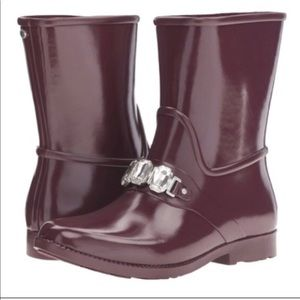 Michael Kors Rain Boots purple jeweled